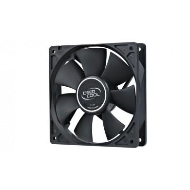 "120mm Case Fan - DEEPCOOL ""XFAN 120"" Fan, 120x120x25mm, 1300rpm, <25dBa, 44.7CFM, Hydro Bearing, Big 4Pin and 3Pin Molex, Black"