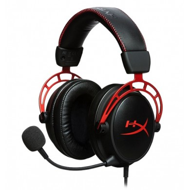 Headset  HyperX Cloud Alpha, Black/Red, Solid aluminium build, Microphone: detachable, Frequency response: 13Hz–27,000 Hz, Detachable headset cable length:1m+2m extension, Dual Chamber Drivers, 3.5 jack, Pure Hi-Fi capable, Braided cable