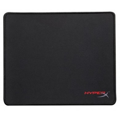 HYPERX FURY S Gaming Mouse Pad Medium from Kingston, Natural Rubber, Size 360mm x 300mm x 3.5 mm, Seamless, Stitched edges, Densely woven surface for accurate optical tracking, Compatible with optical or laser mice, Black