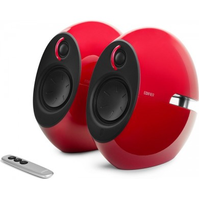 """Edifier E25HD Red, 2.0/ 74W (2x37W) RMS, Audio in: Bluetooth 4.0, auxiliary, optical, remote control, satl.(3""""+3/4"""")"""