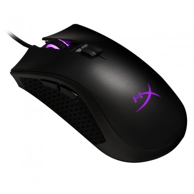HYPERX Pulsefire FPS PRO Gaming Mouse, 200–16000 DPI, 4 DPI presets, Pixart 3389 sensor, RGB, 6 x button mouse with ultra-responsive Omron switches, Extra-large mouse skates, Comfortable with slip-resistant grip, USB, 95g