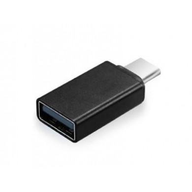 Adapter Type-C-USB2.0 - Gembird A-USB2-CMAF-01, USB 2.0 type-C (male) to type-A (female) adapter plug, Black