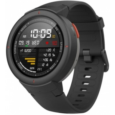 """Xiaomi """"Amazfit Verge"""" Grey, 1.30"""" Amoled Display, GPS, Heart Rate, Steps, Calories, Sleeping Quality Tracking, Smart Alarm, Distance Display, Average Daily Steps, Time, Weather, Accept incoming calls, Notifications, Operating time 5days, IP67"""
