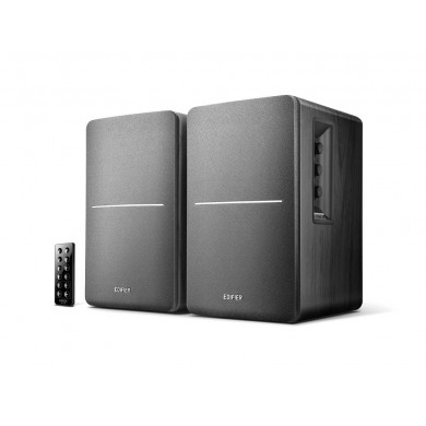 "Edifier R1280DB Black, 2.0/ 42W (2x21W) RMS, Audio In: Bluetooth, RCA x2, optical, coaxial, AUX, remote control, wooden, (4""+1/2')"