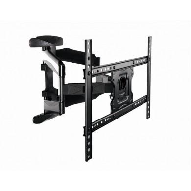 """TV-Wall Mount for 32-70""""- Gembird """"WM-70RT-01"""", Rotation-Tilt, max. 40kg, Tilt -5°/+8°, Distance TV to Wall: 50 - 490 mm, max. VESA 600 x 400, Black"""