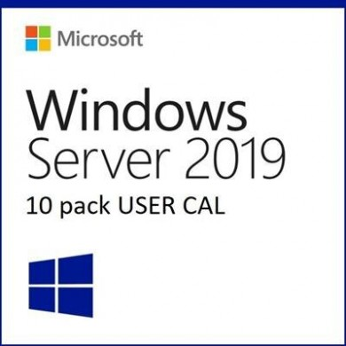 Dell Microsoft Windows Server 2019/2016 10-pack User Client Access License (CAL) (STD or DC) (Customer Kit)