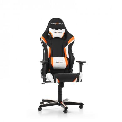 Fotoliu Gaming DXRacer Racing GC-R288-NOW-Z1/ 150kg / 165-195cm / Black/Orange/White