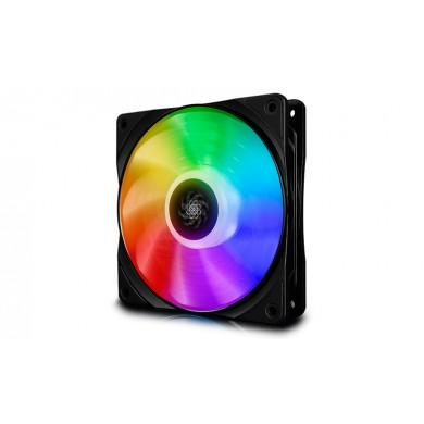 """120mm Case Fan - DEEPCOOL """"CF120 """"  1x  A-RGB LED 120x120x26.5mm, 500-1800rpm, <28dBa, 52.5 CFM, Hydro Bearing, 4Pin, PWM, 12V RGB 4-pin port"""