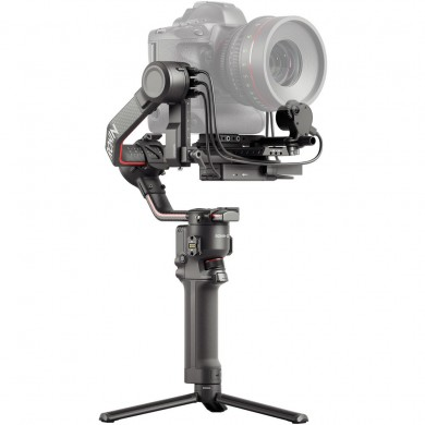 """(901552) DJI RS 2 - Camera Stabilizer for Mirrorless and DSLR Cameras, Carbon Construction, 1/4""""-20 Mounting Hole, Load Weight 4.5 kg, 1.4"""" Color Touchscreen, BT 5.0, RSS Port, Follow Focus Motor Port, USB-C, RSA/NATO, Run Time 12h, Weight 0.960 kg"""
